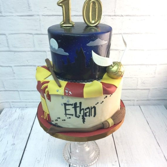 Harry Potter Two Tier Birthday Cake