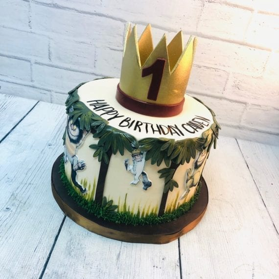 One Tier Where the Wild Things Are Cake
