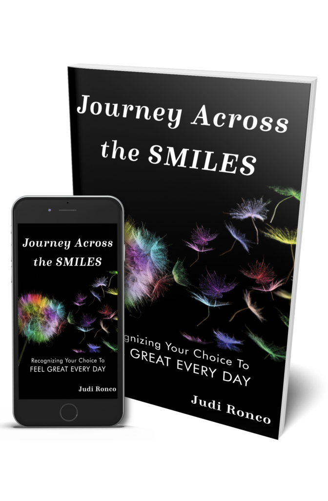 Journey Across the Smiles paperback and ebook cover background with rainbow dandelion