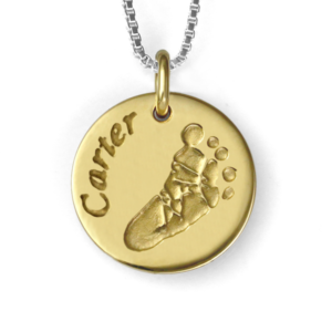 Gold Footprint Necklace