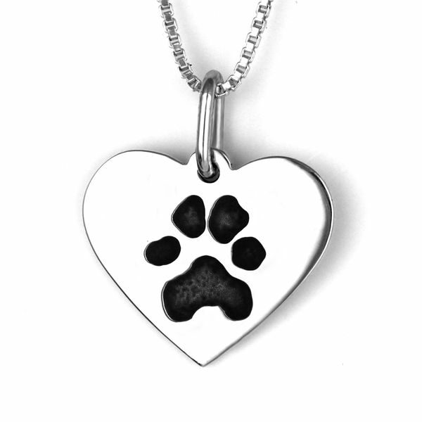 Pawprint Heart Necklace