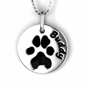 Pawprint Necklace Round