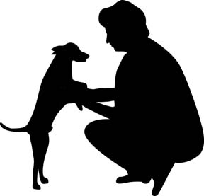 6673103-woman-and-dog-silhouette-vector