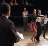 Wayne Crowder judging competitors on the dance floor