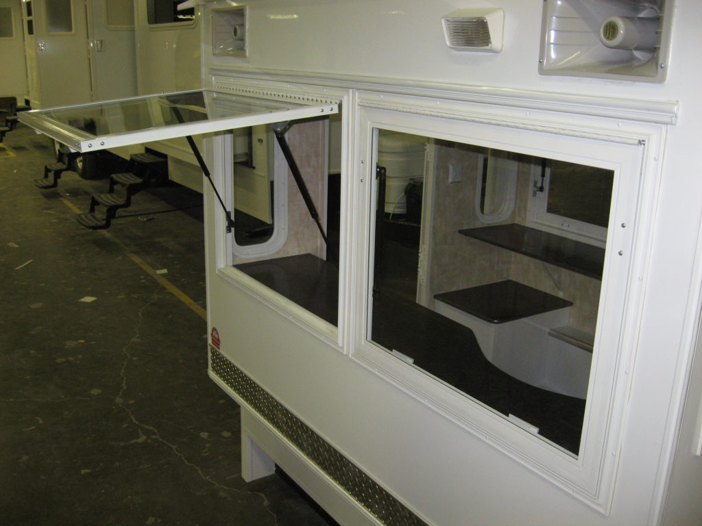Auction Truck Toppers Flip Up Windows