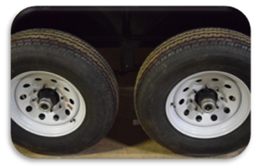 auction trailer key features radial tires