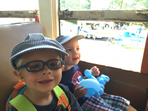 Riding on the Train!