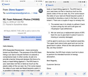 Email from Diono