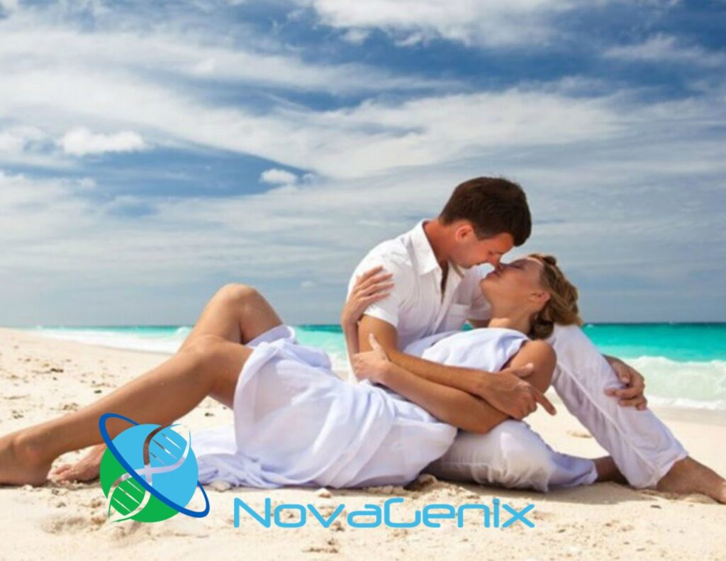 NovaGenix Low Testosterone therapy can improve libido and energy in men. This couple on the beach in Jupiter is in love and can benefit from TRT and help improve their relationship