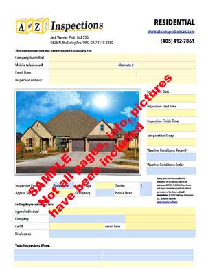home inspector report
