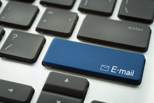 computer keyboard that says email