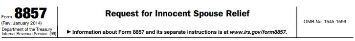 Innocent Spouse Form