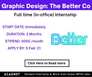 Graphic Design: Internship: Bangalore: The Better Co: 5 Feb 21