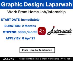 Graphic Design: Work From Home Job/Internship: Laparwah: 8 Apr' 21