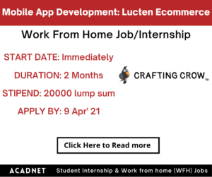 Mobile App Development: Work From Home Job/Internship: Lucten Ecommerce Private Limited: 9 Apr' 21