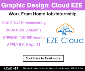 Graphic Design: Work From Home Job/Internship: Cloud EZE Private Limited: 9 Apr' 21