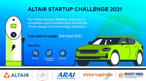 Altair Start-up Challenge 2021: For EV's: Apply by 10 April 21