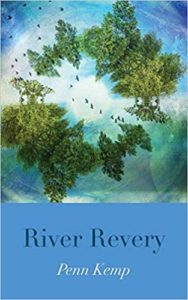 Cover for River Revery by Penn Kemp. Cover features a ring of trees