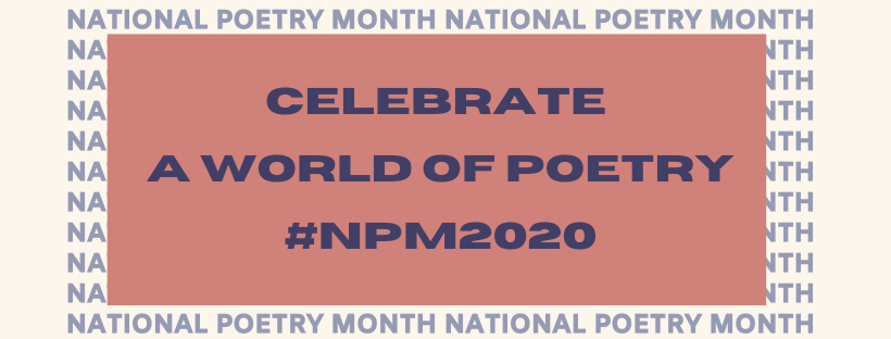National Poetry Month 2020 banner