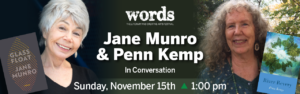 Sageing, Wider and Deeper: Penn Kemp in Conversation with Jane Munro