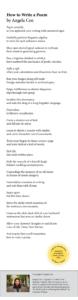 2021 Jessamy Stursberg Youth Poetry Prize Winners
