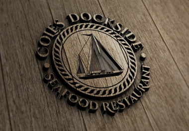 Cole's Dockside Logo -wood cut