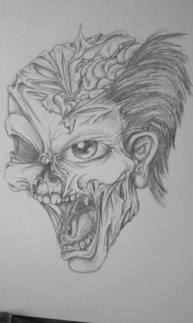 Custom Tattoo Design - Zombie head