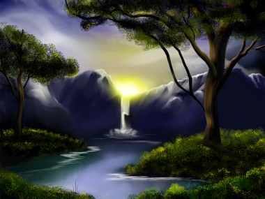 Feeling Bob Ross - digital painting