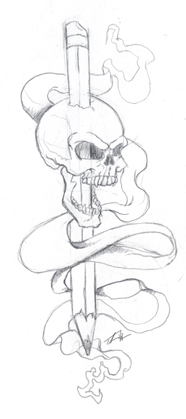 Quick Sketch - Skull Tattoo