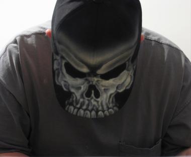 Airbush Skull Hat