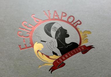 Ecig Logo - vintage glossy