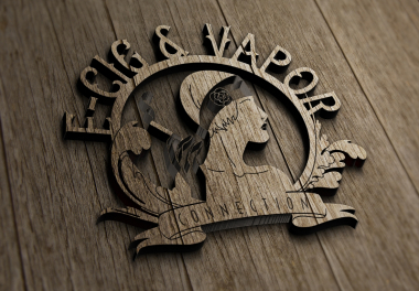 Ecig Logo - vintage wood cut
