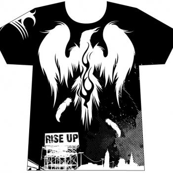 T-shirt design - Rise Up