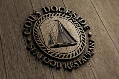 Cole's Dockside Logo -wood cut