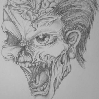Custom Tattoo Design - Zombie head