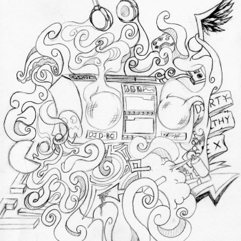 DJ D-Bo concept sketch