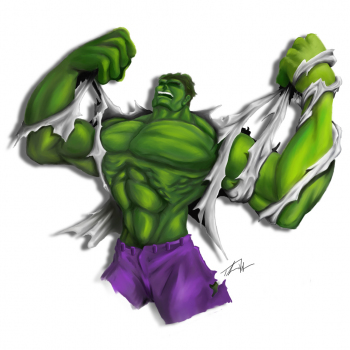 Hulk - digital painting