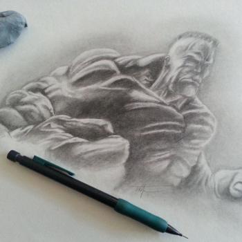 The Hulk sketch