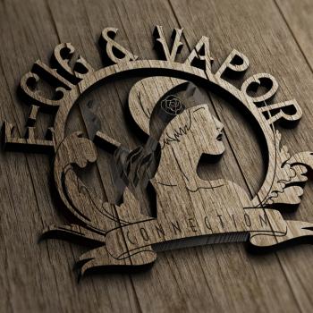 Ecig Logo - vintage wood cut