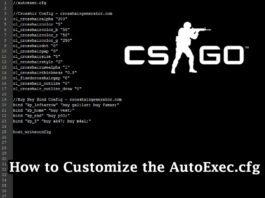 How to Customize the AutoExec.cfg file