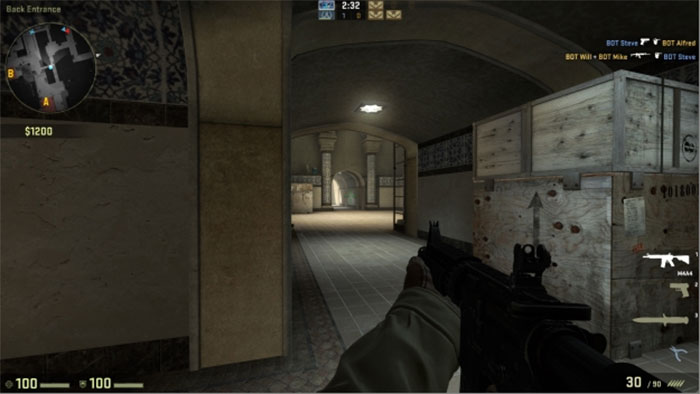 How to Peek in Counter-Strike: Global Offensive Peek Hallway 1