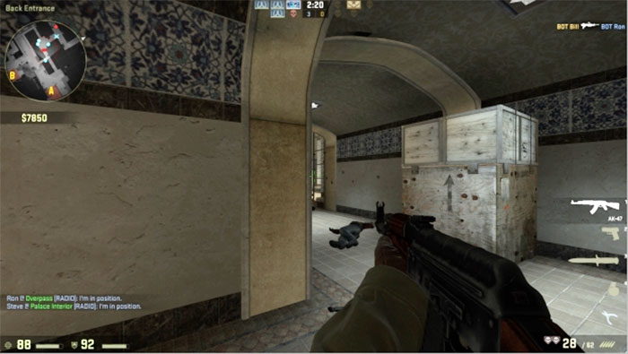 How to Peek in Counter-Strike: Global Offensive Peek Hallway 2