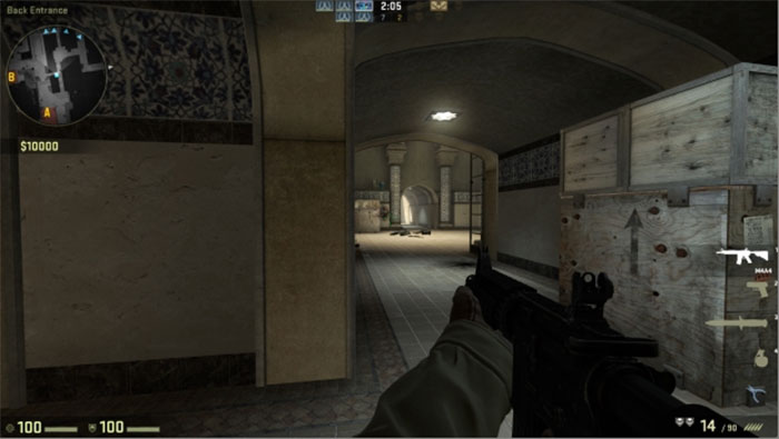 How to Peek in Counter-Strike: Global Offensive Peek Hallway 3