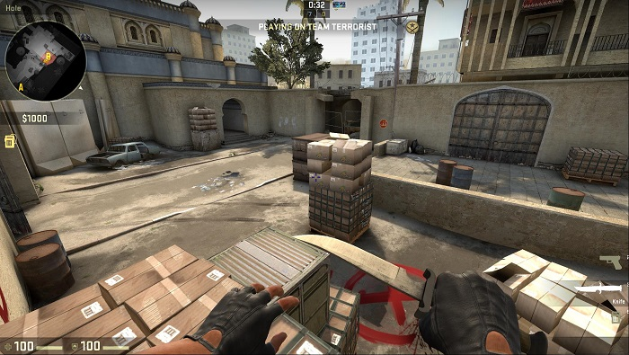 A Look at the Map de_dust2 in CSGO Bombsite B