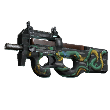 Counter-Strike: Global Offensive Weapon Reference: StatTrak P90 Emerald Dragon
