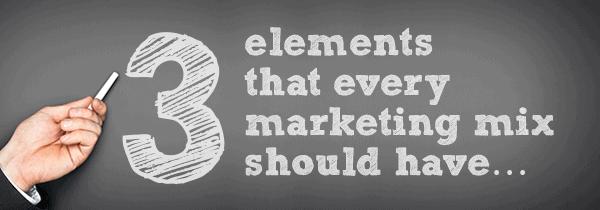 3 Elements Marketing Mix