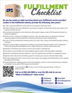 Fulfillment Checklist