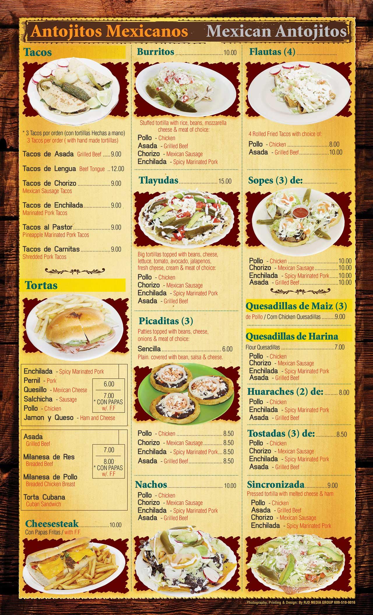 El Ranchito Menu Page 3