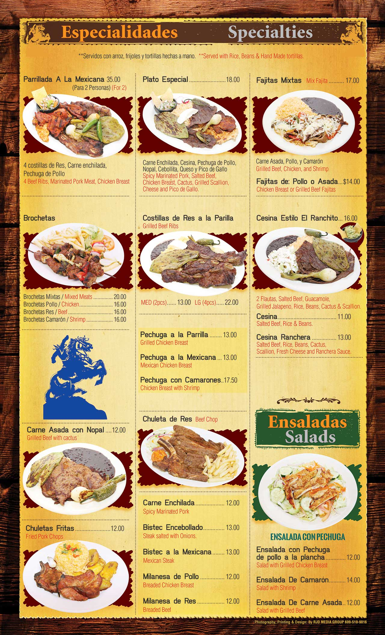 El Ranchito Menu Page 4
