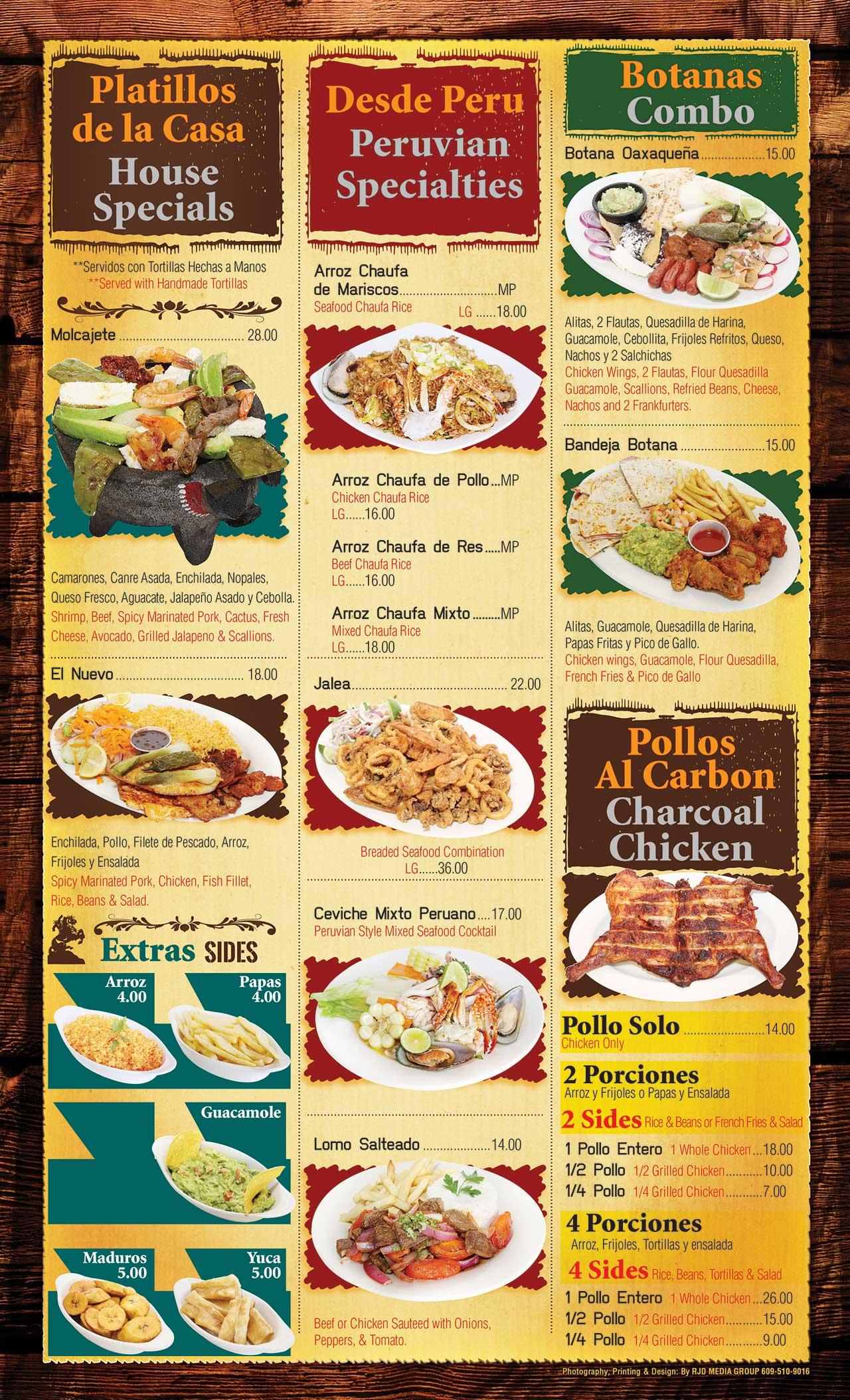 El Ranchito Menu Page 5